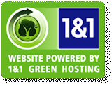 1and1.com Green Hosting Logo
